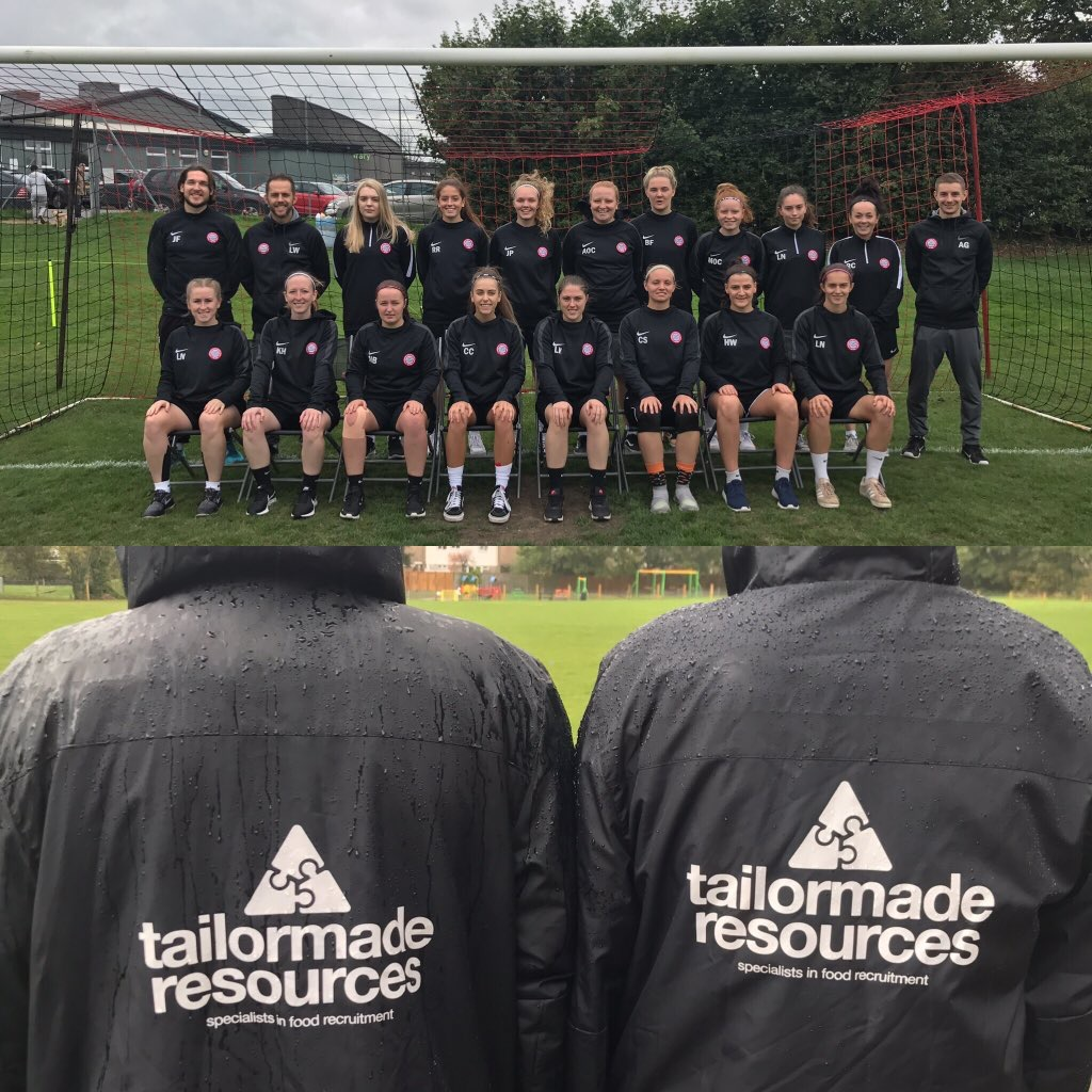Wymondham Town Football Club Ladies 1st Team dressed in their Tailor Made resources branded jackets