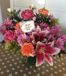 Bunch of beautiful pink and orange flowers for Mother's Day