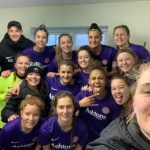 The Wymondham Town Football Club ladies team celebrate their semi-final win