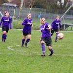 Wymondham Town Football Club Ladies 1st Team in semi final action